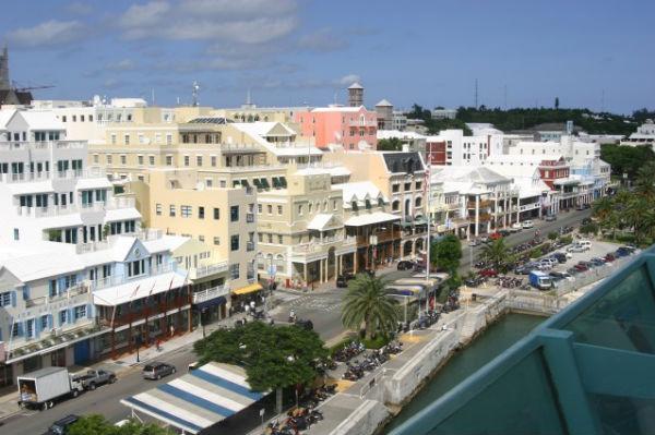 Front Street in Hamilton, Bermuda (Photo: Mfdii, via Wikimedia).