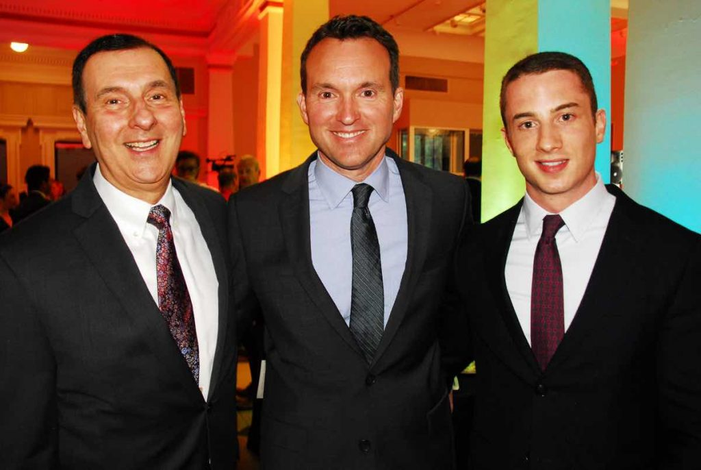 Eric Fanning  (center) at Capital Pride Heroes Gala, Photo: Ward Morrison