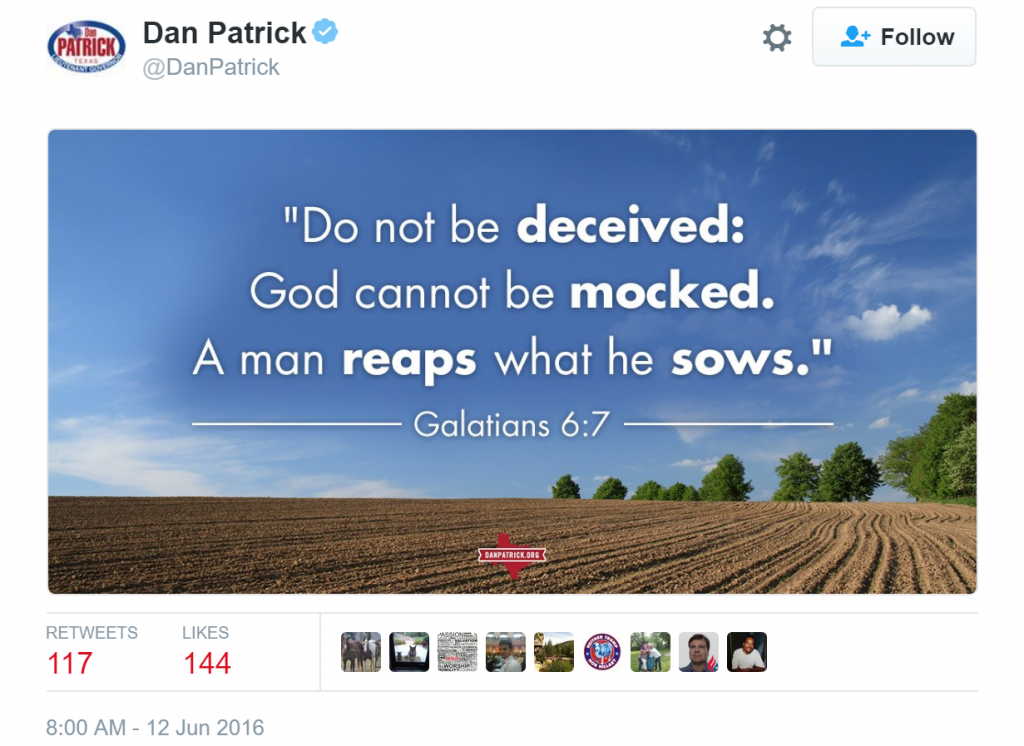 Dan Patrick Orlando Tweet