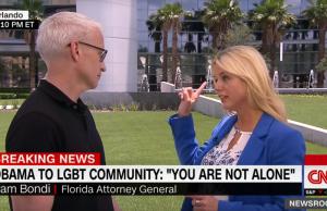 Anderson Cooper and Pam Bondi, Credit: CNN