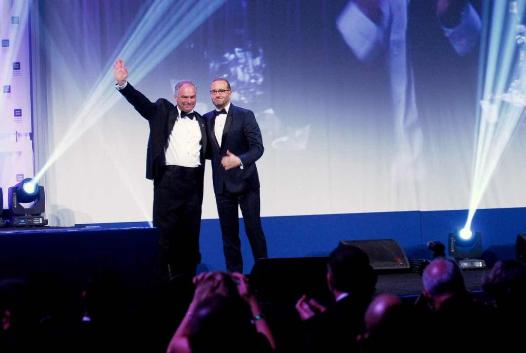 Tim Kaine and Chad Griffin at the HRC National Dinner - Photo: Ward Morrison/Metro Weekly