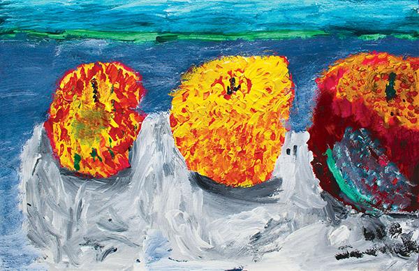Apples -- Painting by Lee Jaworek