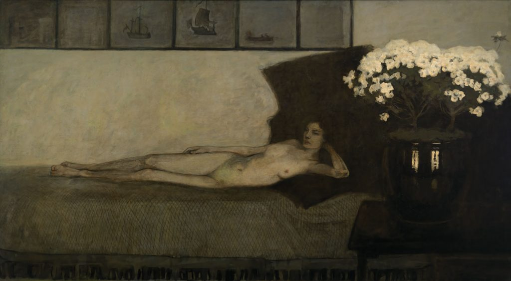 Romaine Brooks, Azalées Blanches (White Azaleas), 1910, oil on canvas. Smithsonian American Art Museum