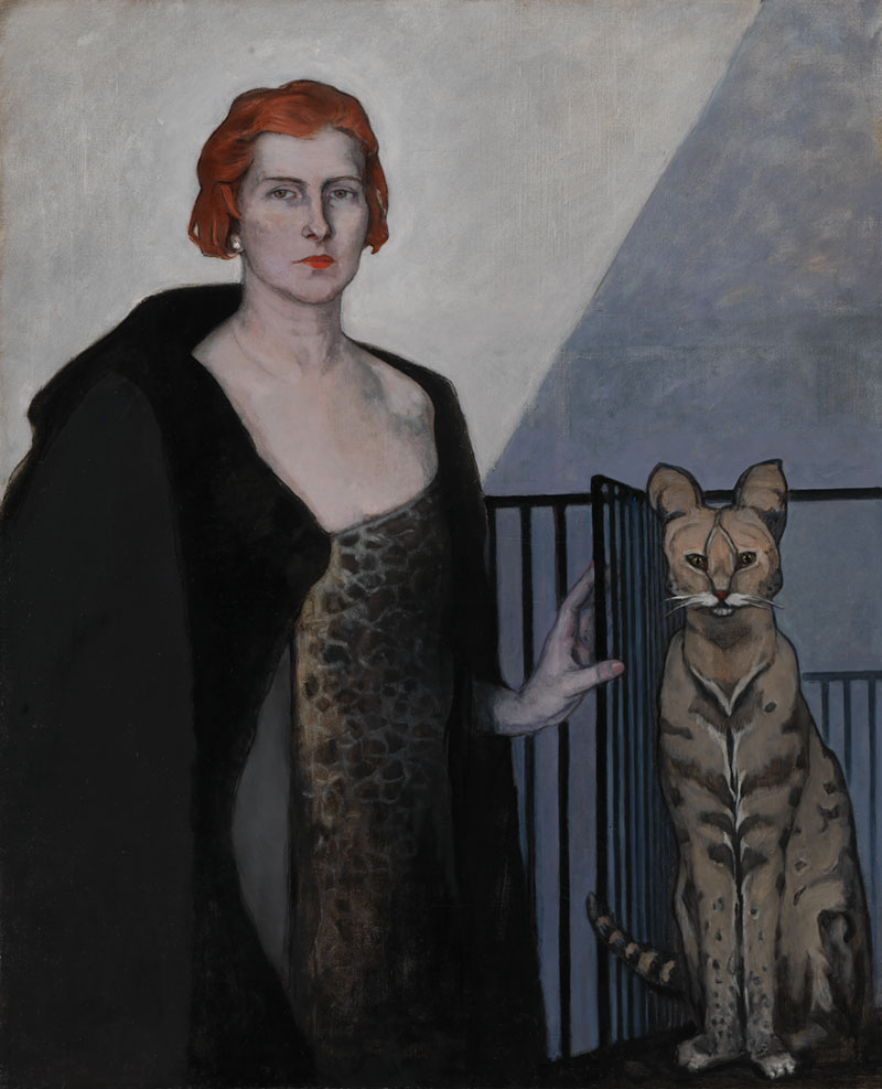 Romaine Brooks, La Baronne Emile D'Erlanger, about 1924, oil on canvas. Smithsonian American Art Museum