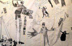 "Jo Ann Block: ""I Am Surfacing,"" mixed media collage"