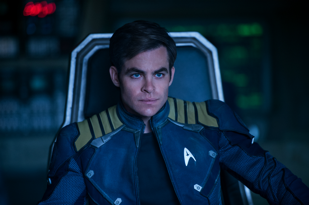 Chris Pine as Captain Kirk, Photo: Paramount Pictures