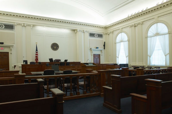A courtroom in the U.S. Courthouse in Tallahassee, Fla. - Photo: Carol M. Highsmith, via Wikimedia.