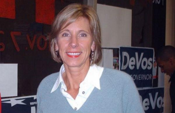 Betsy DeVos - Photo: Keith A. Almli, via Wikimedia.