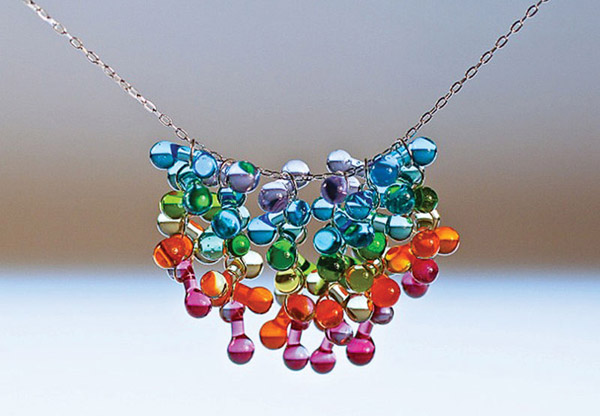 Krista Bermeo: Heart within a Heart necklace