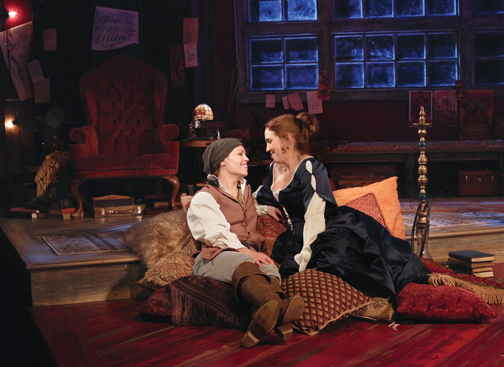 Review or at round house is a funny well acted farce for Broadly farcical