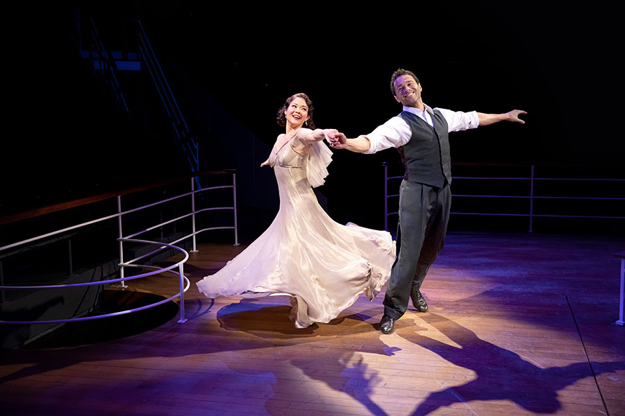 Lisa Helmi Johanson and Corbin Bleu in Anything Goes. Photo by Maria Baranova.