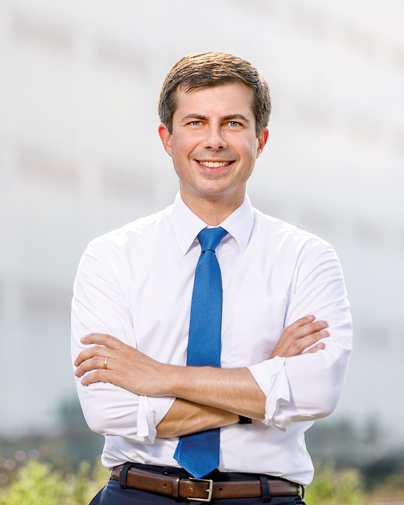Image result for buttigieg headshot""
