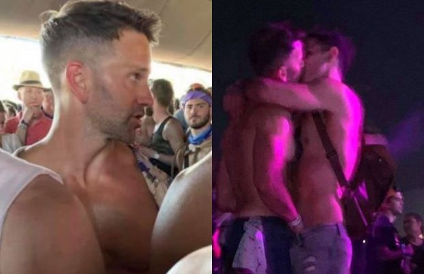 Former GOP Rep. Aaron Schock allegedly had his hand down a man's pants at Coachella