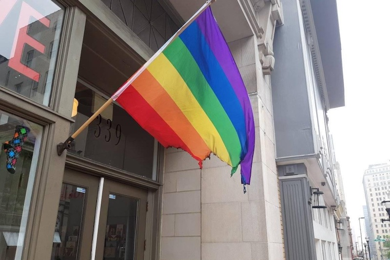 Baltimore LGBTQ Business's Gay Pride Flag Burned In