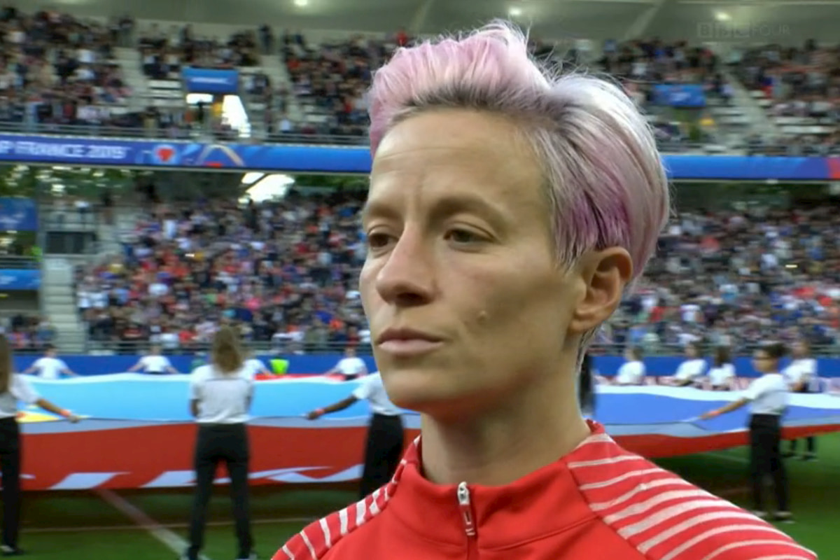 Lesbian soccer player refuses to sing national anthem to protest Donald Trump