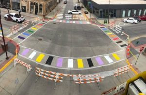 Ames rainbow crosswalk, gay news, metro weekly