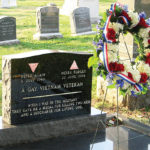 Leonard Maltovich gravesite with wreath