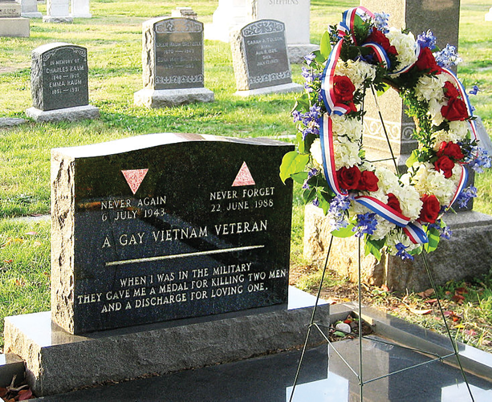Center Military honors LGBTQ veterans with memorial service at Leonard Matlovitch's gravesite