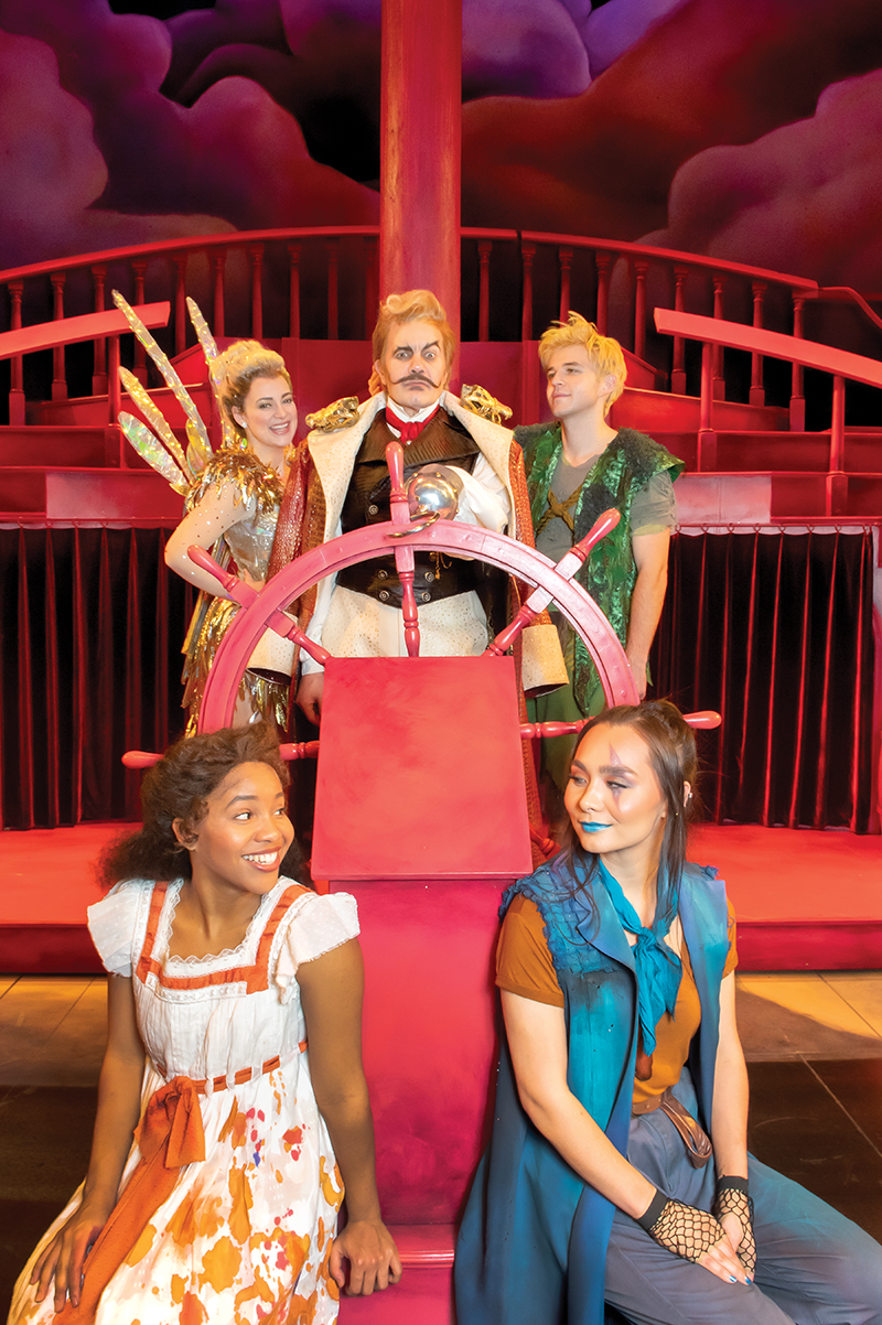 Alan Paul and the cast of Peter Pan photographed at Harman Hall on Sunday, December 8, 2019 -- Photo: Todd Franson