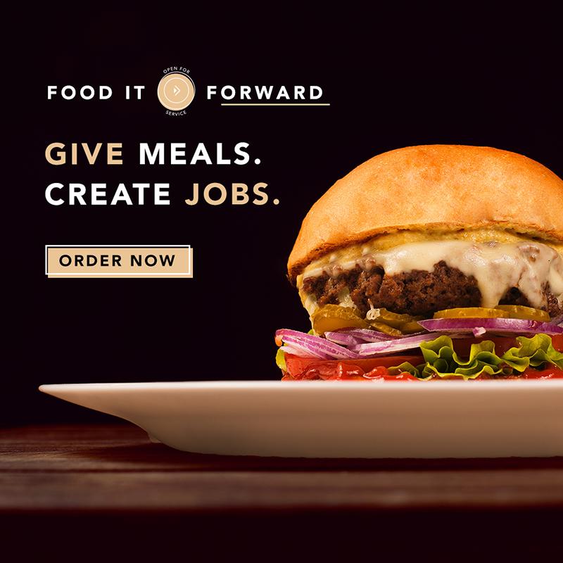 food it forward, clyde's, mi vida