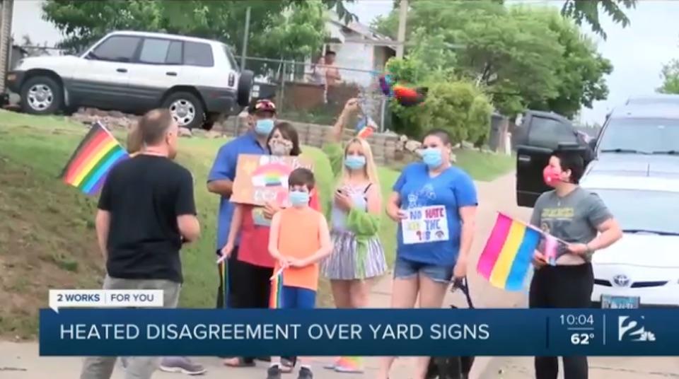 tulsa, gay, sign, anti-gay