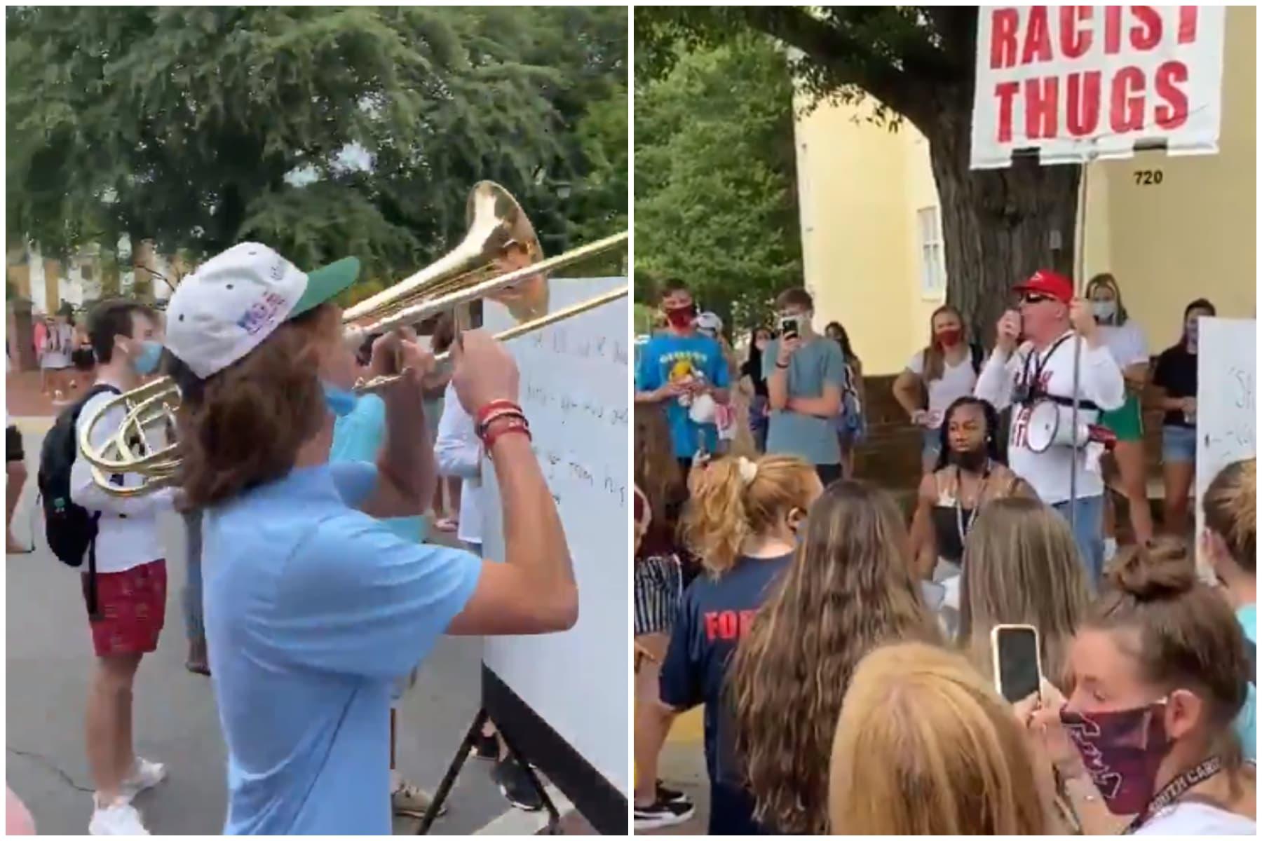 trey hogan, trump, trombone, trump, homophobe, university, freshman