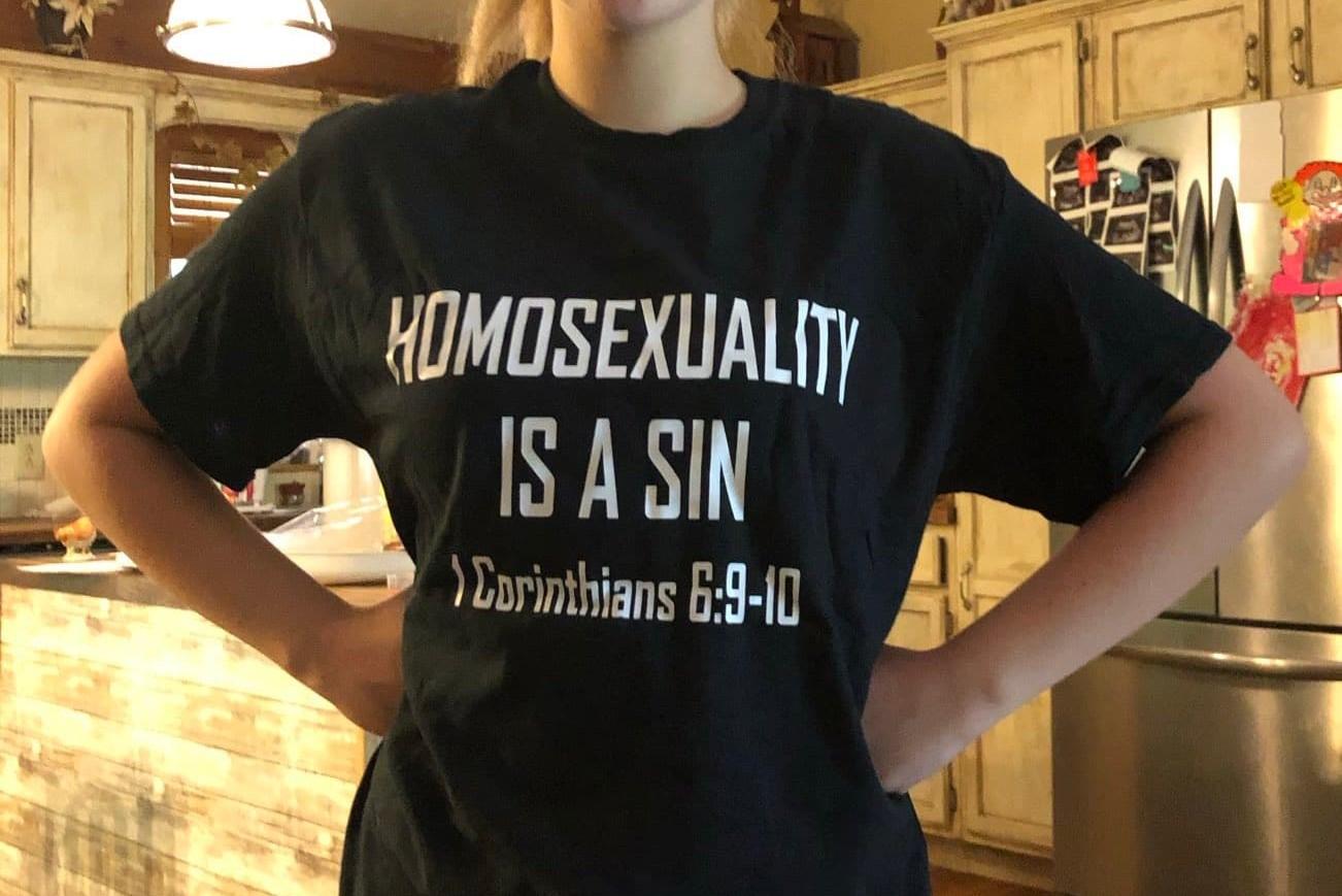 rich penkoski, t-shirt, anti-gay, tennessee, school