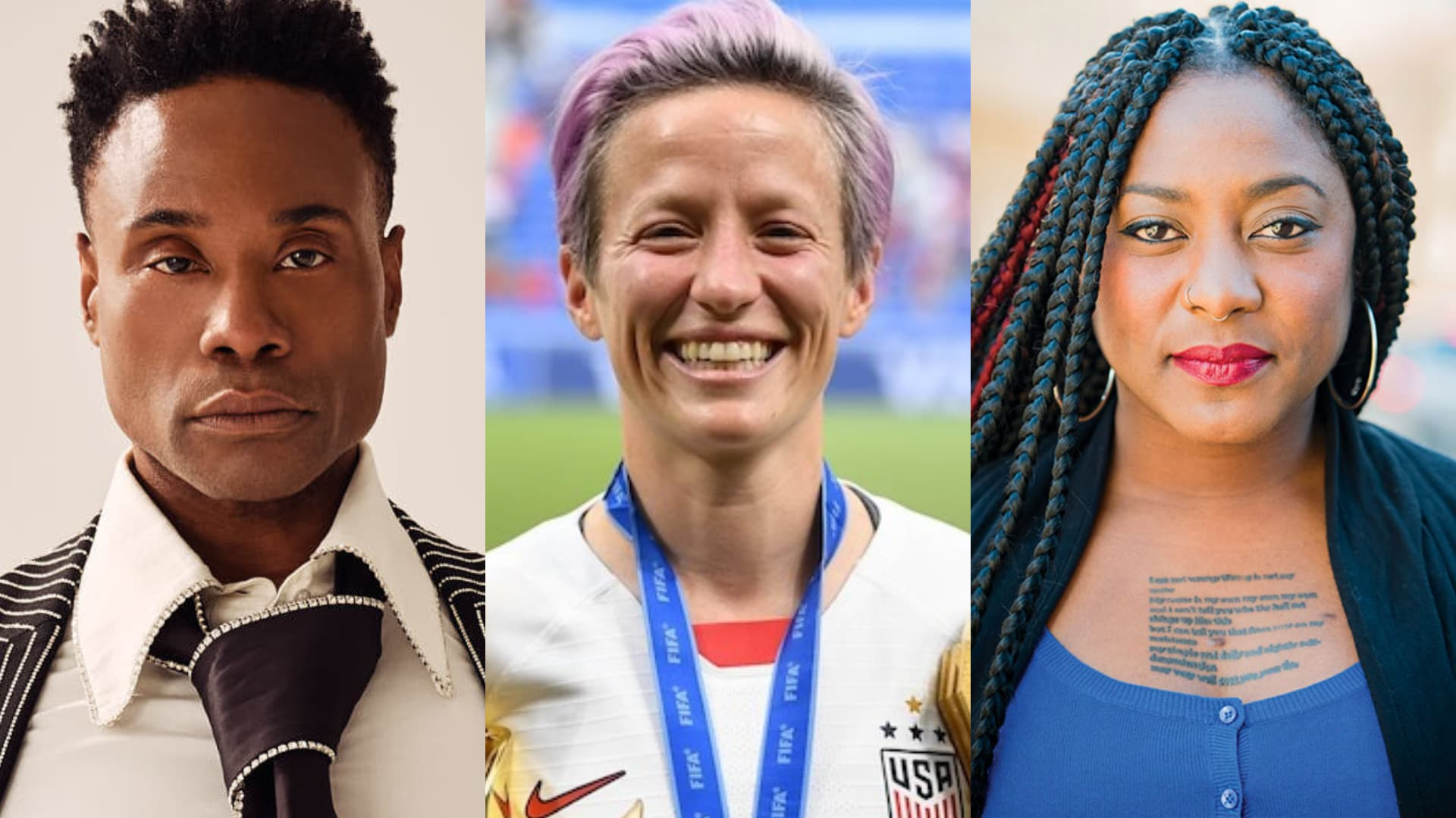 Billy Porter, Megan Rapinoe, Alicia Garza, time 100, lgbtq, icon, chase strangio, black lives matter
