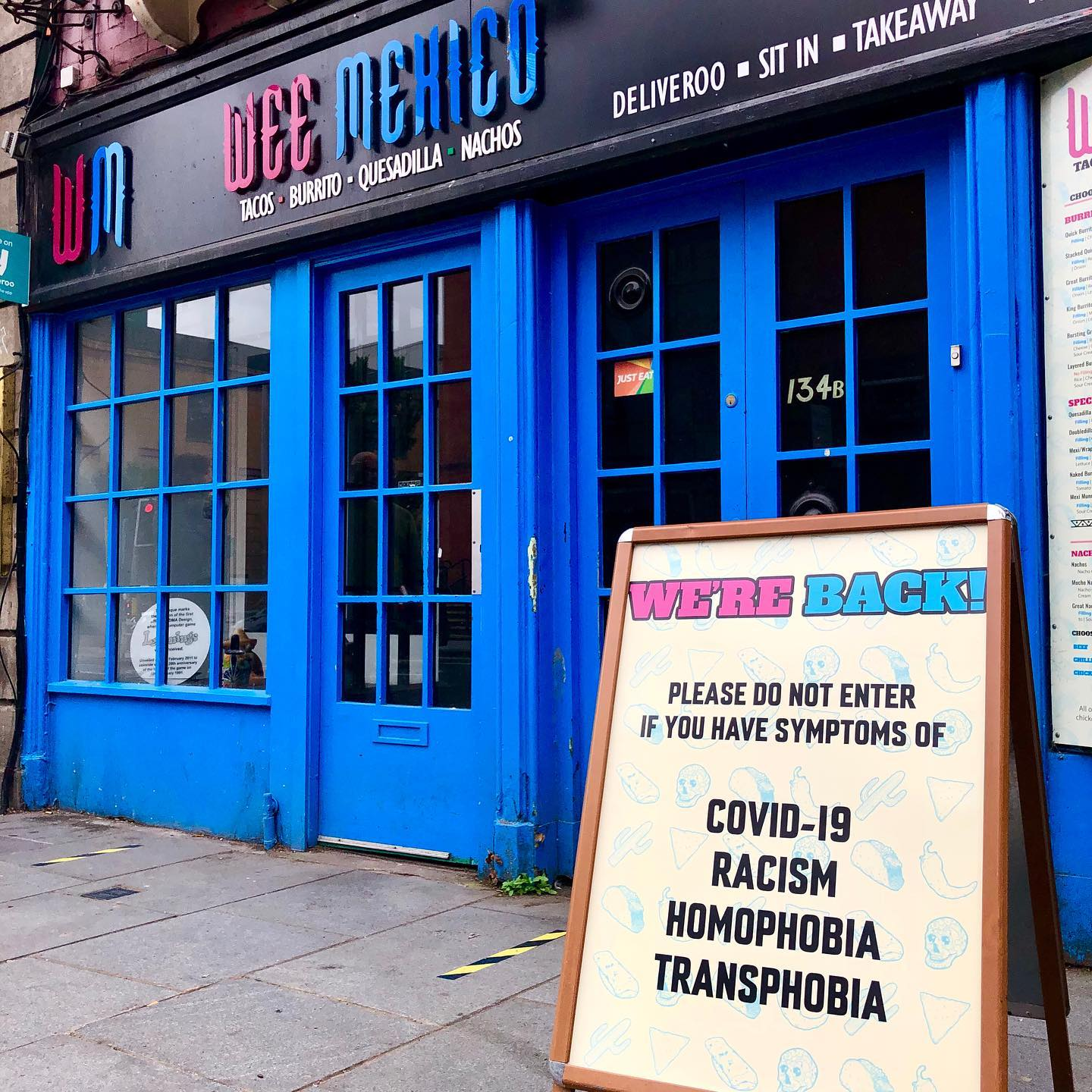 wee mexico, sign, homophobia, transphobia, racism, covid-19