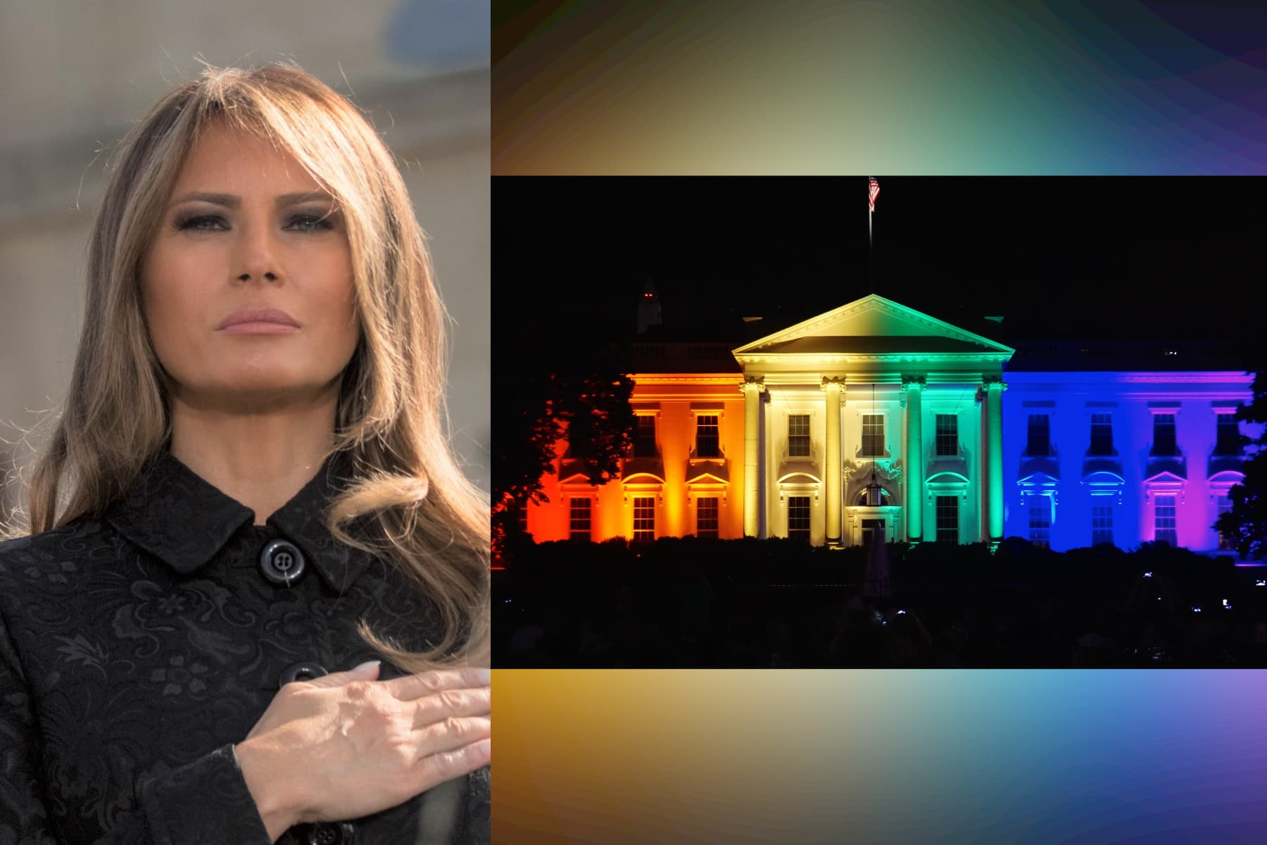 melania trump, white house, rainbow, pride month, lgbtq