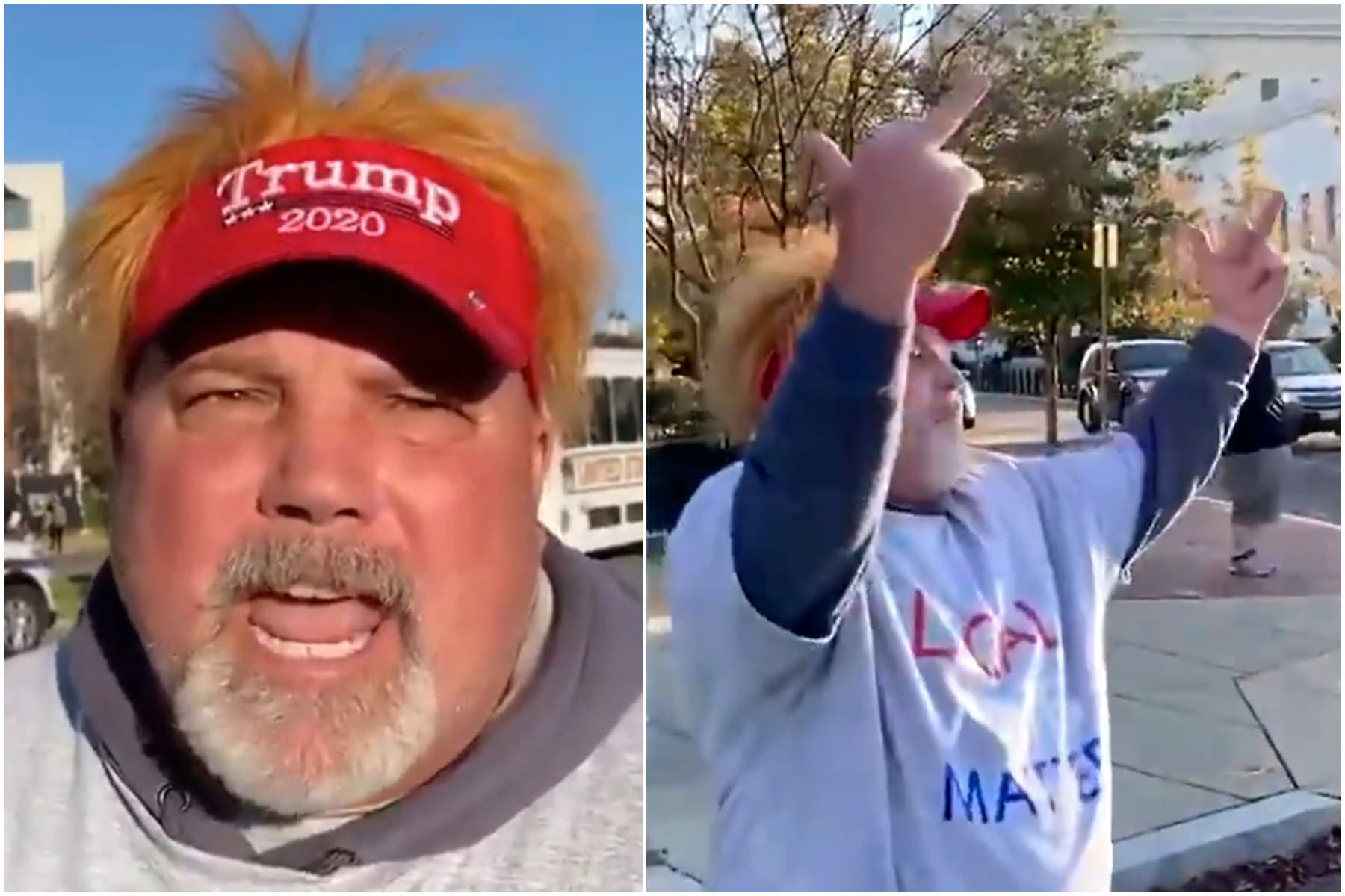 Trump, maga, dc, march, anti-gay, slur, protest