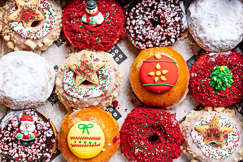 astro doughnuts, holiday, cookies, donut