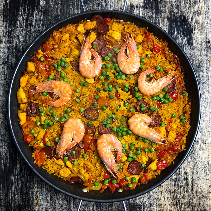 Pan of Paella, Hill Center, Cooking Class