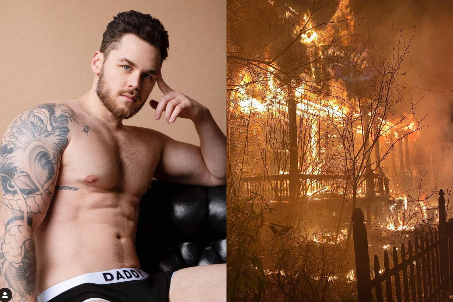 Gay adult performer Matthew Camp's home set on fire in suspected arson attack