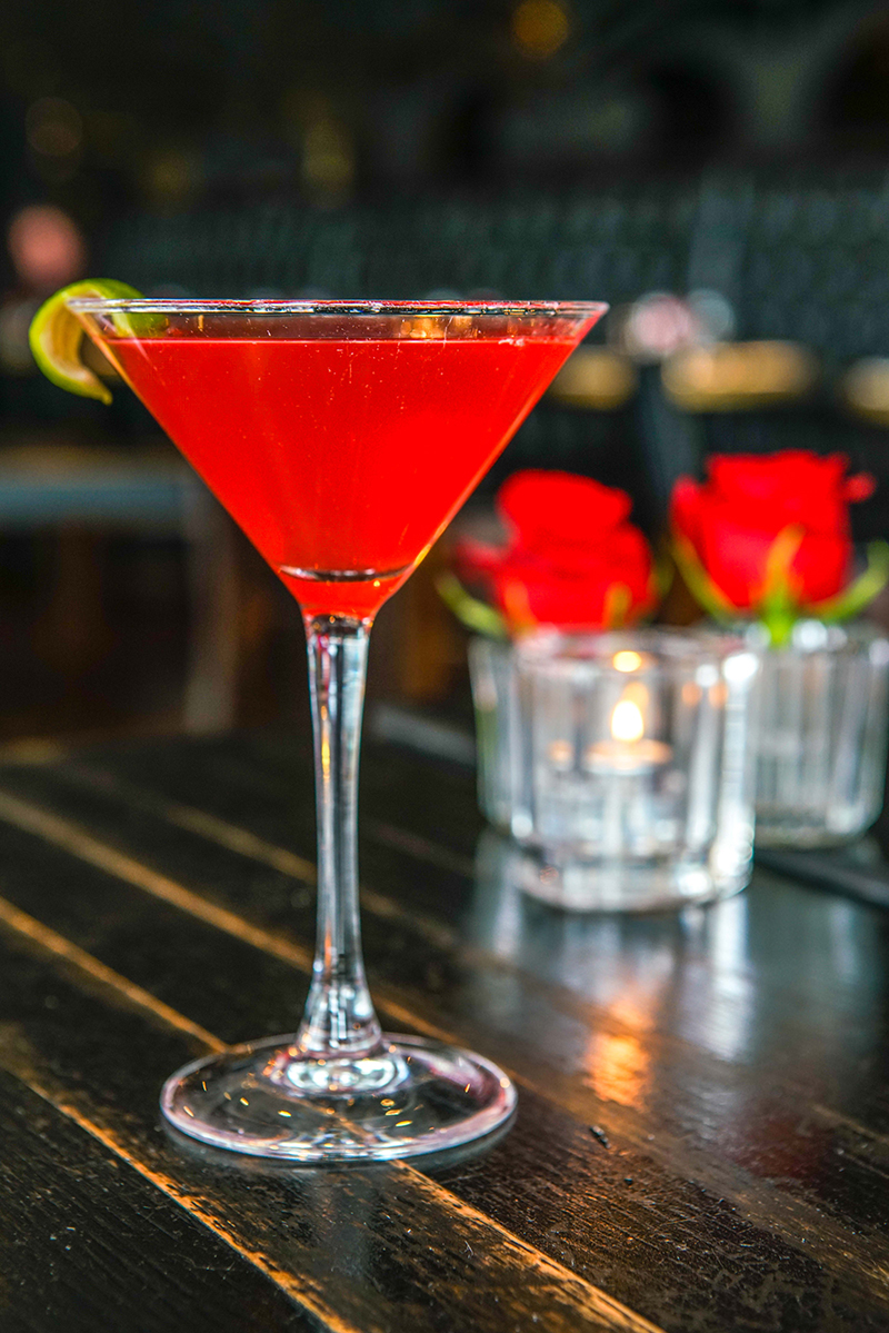 Station 4: Raspberry blood orange cocktail