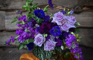 Hillwood Museum purple flowers