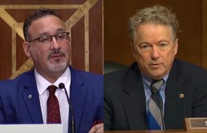 Miguel Cardona discusses trans athletes with Rand Paul
