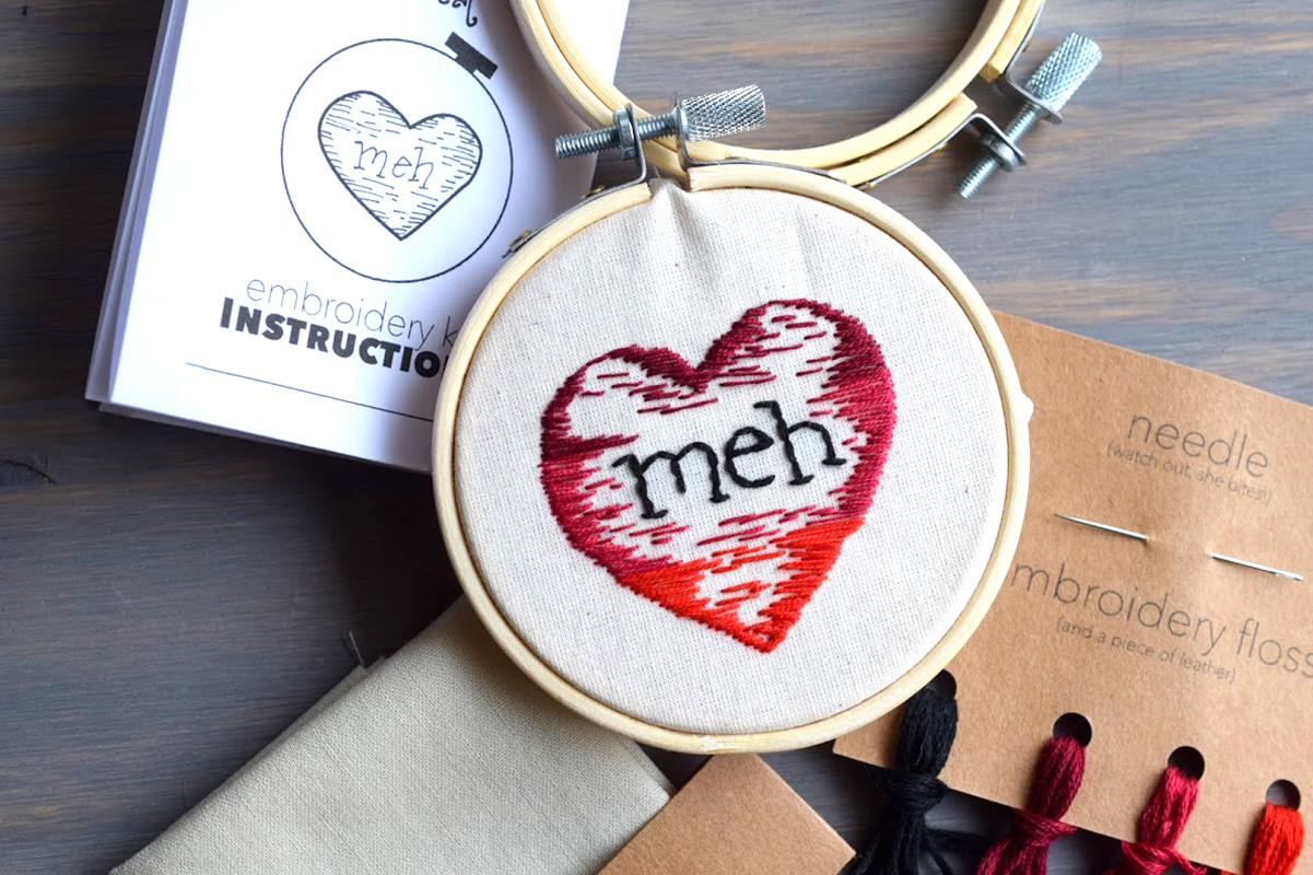 Galentines Day Embroidery