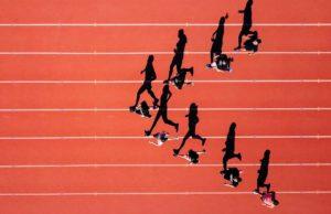 Athletes, track, runner, student