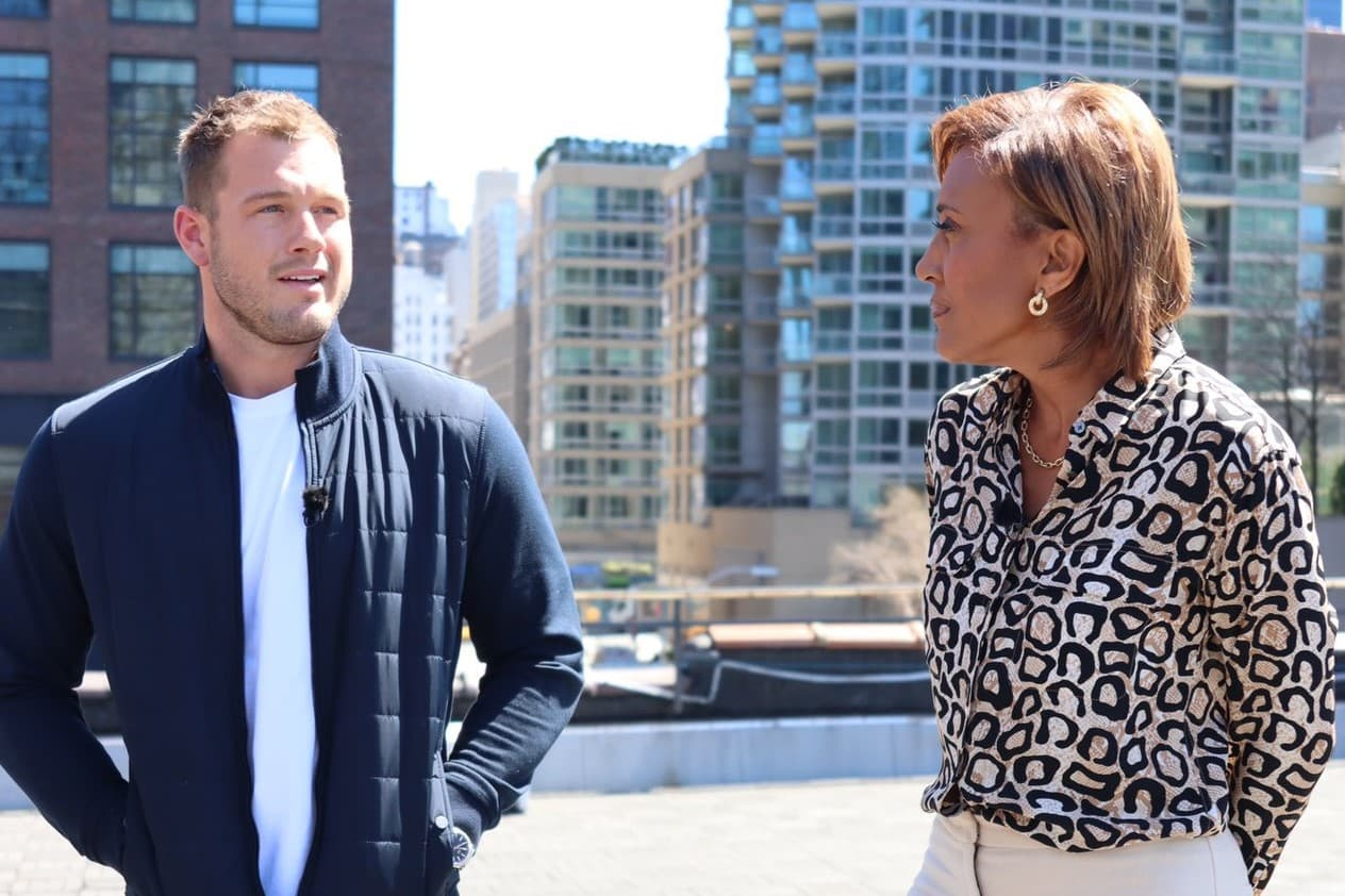 Colton Underwood and Robin Roberts