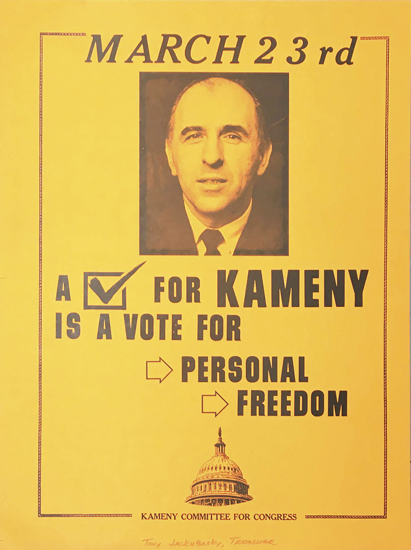 DC History Center: Poster from Frank Kameny's 1971 run for Congress