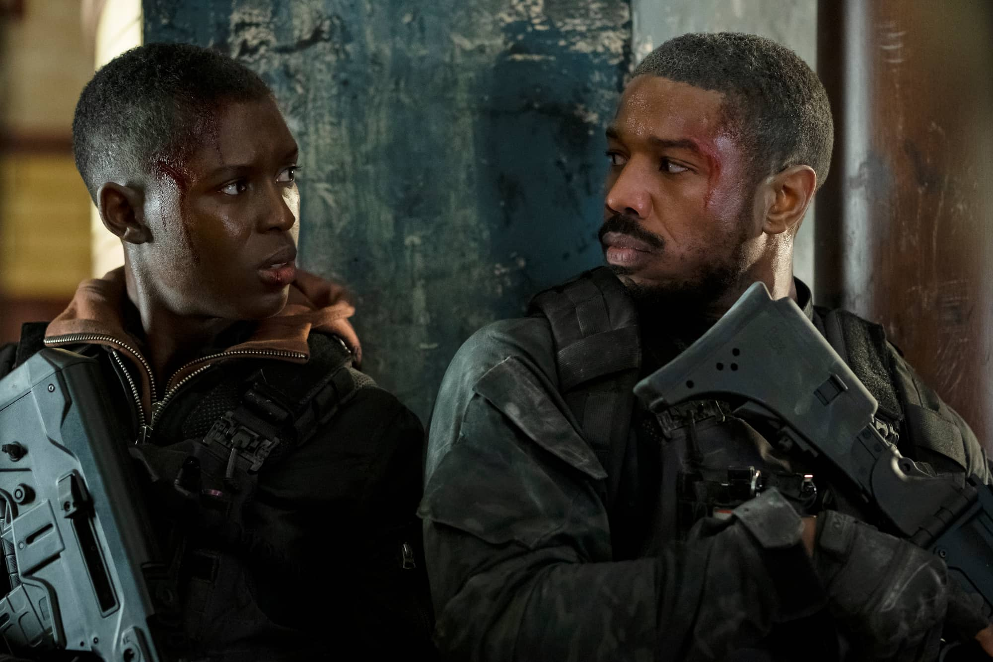 Jodie Turner-Smith and Michael B. Jordan in Tom Clancy's Without Remorse -- Photo: Amazon Studios