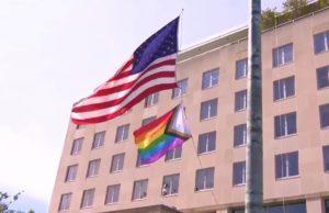 pride, flag, state department