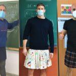 Spain, skirts, teachers, gay, student, school