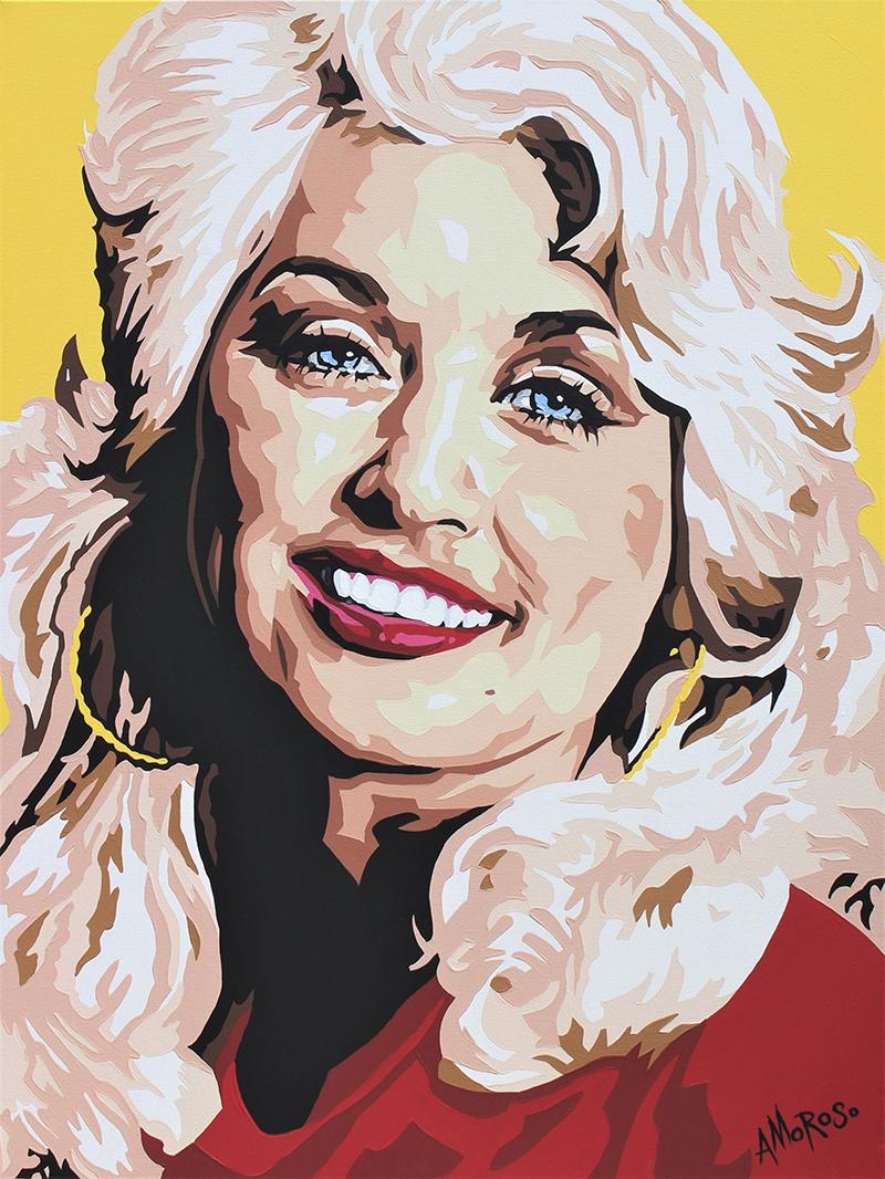 Dolly Parton, 36x48 -- By David Amoroso