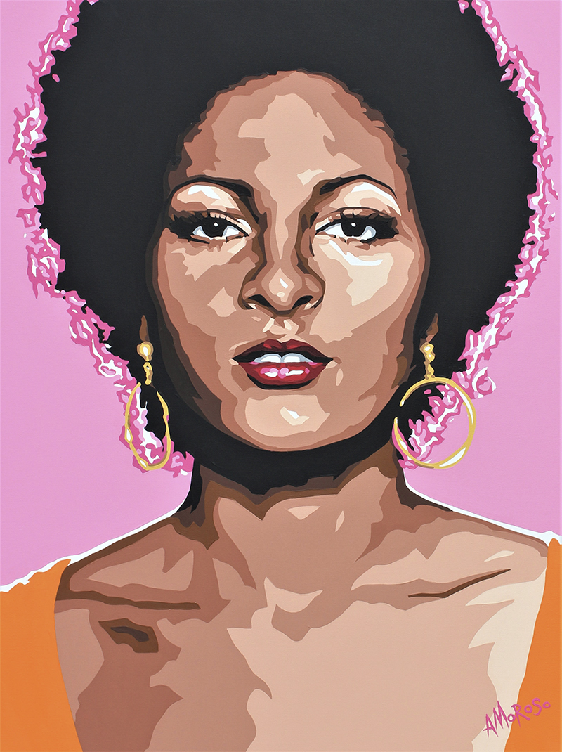 Pam Grier as Foxy Brown, 36x48 -- By David Amoroso