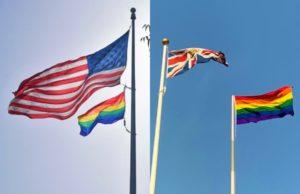 pride flags, uae, embassies