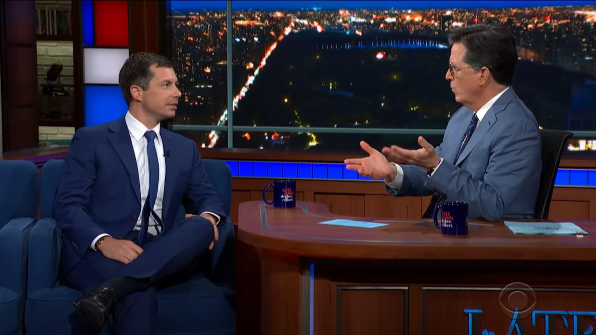 U.S. Secretary of Transportation Pete Buttigieg, Stephen Colbert, The Late Show with Stephen Colbert,