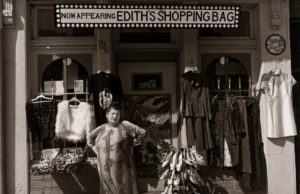 Elinor Cahn, Edith Massey, South Broadway. Edith is one of the star performers of John Waters' films., 1980, gelatin silver print