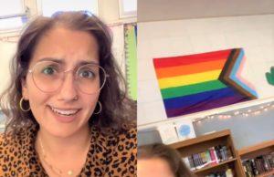 Kristin Pritzen, teacher, pride flag
